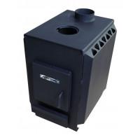 Отопительно-варочная печь УЗПО Теплушка 100 с варочной поверхностью, антрацит