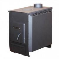 Отопительно-варочная печь УЗПО Теплушка 200 с варочной поверхностью, графит