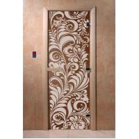 """Дверь """"Хохлома бронза"""""""