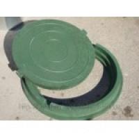 Люк канализационный полимерно-песчаный (4 цвета)