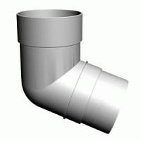 Колено трубы 45 гр. белый 330224 деке