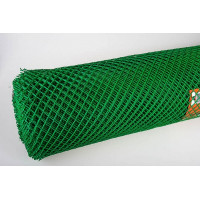 Сетка пластиковая ( квадрат ) 10х10  (1х25) зеленая цена за м.кв.